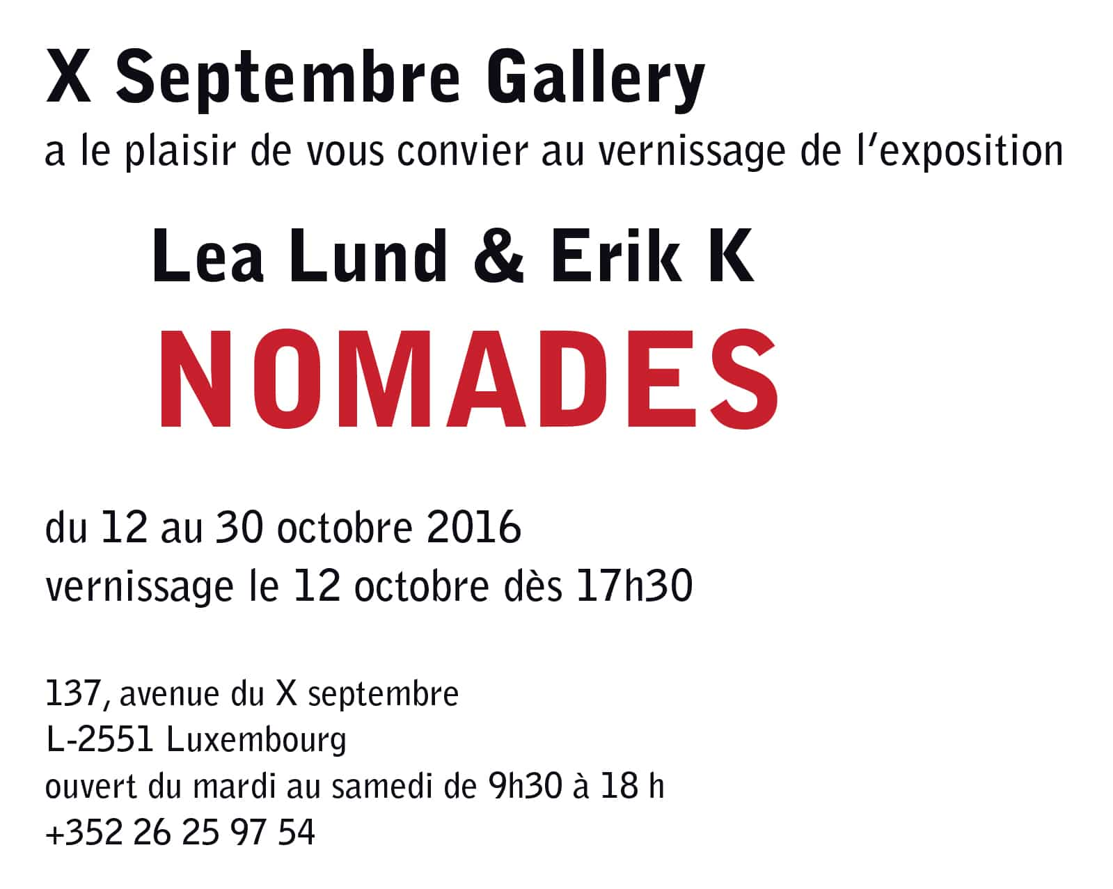 invitation expo lea Erik Luxembourg