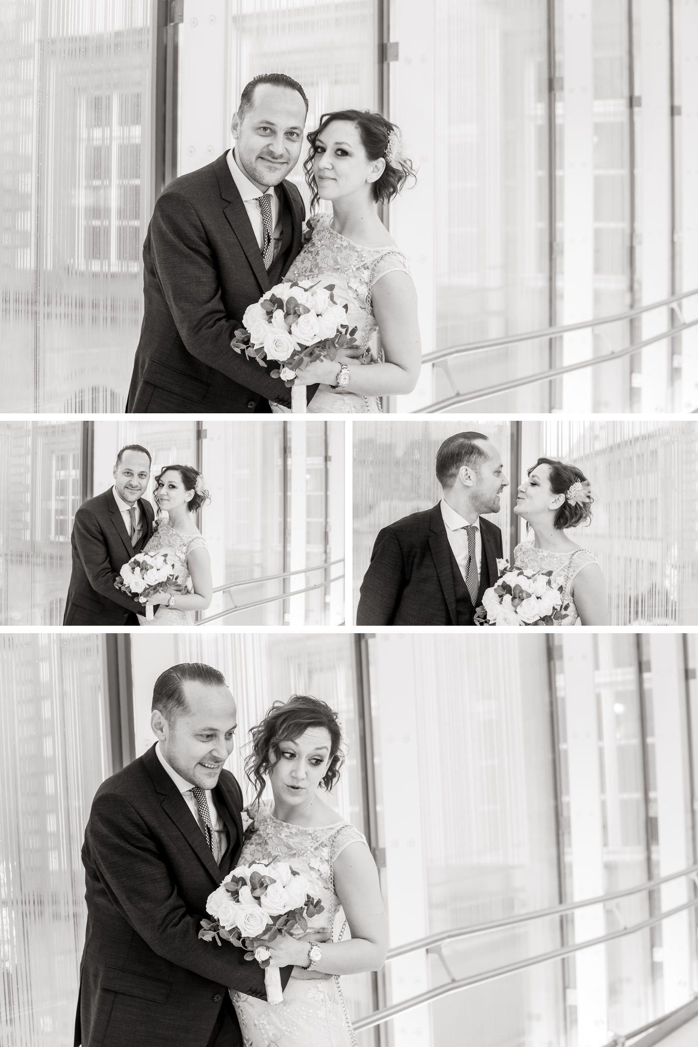portrait noir et blanc en mariage à luxembourg
