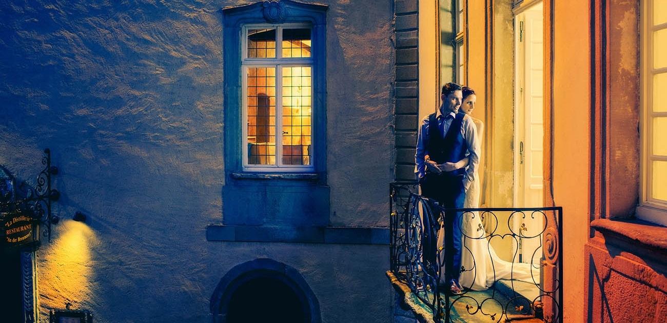 maraige de nuit au chateau de bourglinster
